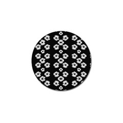 Dark Floral Golf Ball Marker