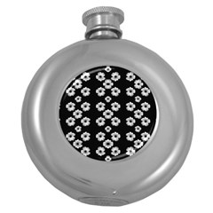 Dark Floral Round Hip Flask (5 oz)