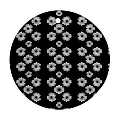 Dark Floral Round Ornament (Two Sides)