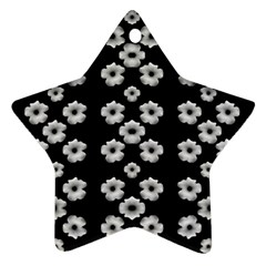 Dark Floral Star Ornament (Two Sides)