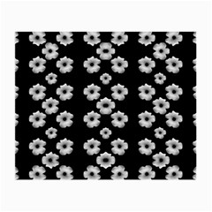 Dark Floral Small Glasses Cloth (2-Side)
