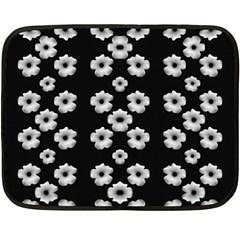 Dark Floral Fleece Blanket (Mini)
