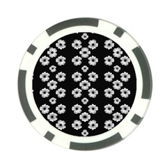 Dark Floral Poker Chip Card Guard (10 pack)