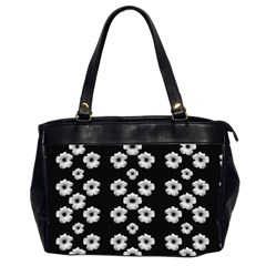 Dark Floral Office Handbags (2 Sides)