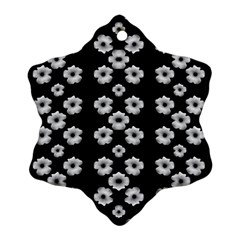 Dark Floral Snowflake Ornament (Two Sides)