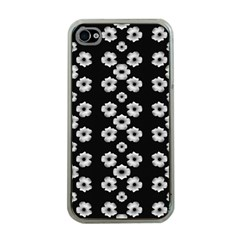 Dark Floral Apple iPhone 4 Case (Clear)