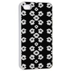 Dark Floral Apple iPhone 4/4s Seamless Case (White)
