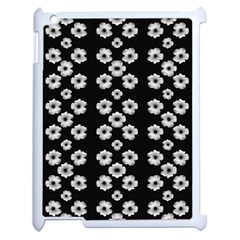 Dark Floral Apple iPad 2 Case (White)