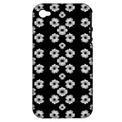 Dark Floral Apple iPhone 4/4S Hardshell Case (PC+Silicone)