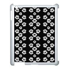 Dark Floral Apple iPad 3/4 Case (White)