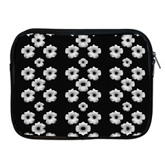 Dark Floral Apple iPad 2/3/4 Zipper Cases