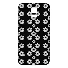 Dark Floral Samsung Galaxy S5 Back Case (White)