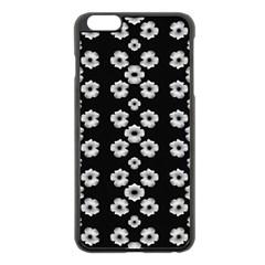 Dark Floral Apple iPhone 6 Plus/6S Plus Black Enamel Case