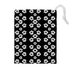 Dark Floral Drawstring Pouches (Extra Large)