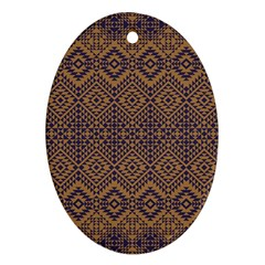 Aztec Pattern Ornament (oval)