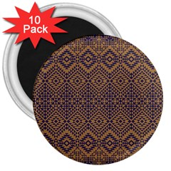 Aztec Pattern 3  Magnets (10 Pack)