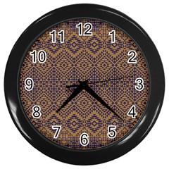 Aztec Pattern Wall Clocks (Black)