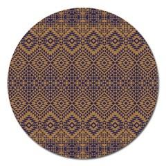 Aztec Pattern Magnet 5  (round)