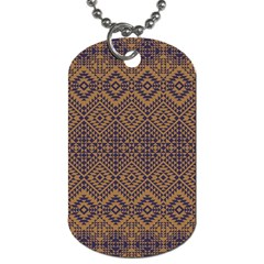 Aztec Pattern Dog Tag (two Sides)
