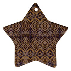 Aztec Pattern Star Ornament (two Sides)