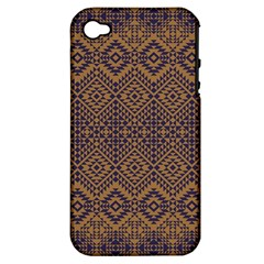 Aztec Pattern Apple Iphone 4/4s Hardshell Case (pc+silicone)