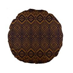 Aztec Pattern Standard 15  Premium Round Cushions