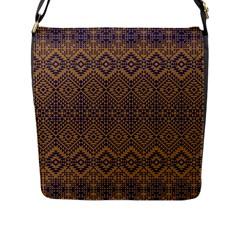 Aztec Pattern Flap Messenger Bag (l)
