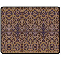 Aztec Pattern Double Sided Fleece Blanket (medium)