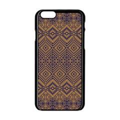 Aztec Pattern Apple Iphone 6/6s Black Enamel Case
