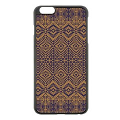 Aztec Pattern Apple Iphone 6 Plus/6s Plus Black Enamel Case