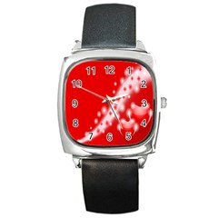 Background Banner Congratulation Square Metal Watch