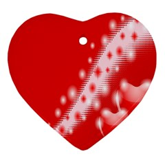 Background Banner Congratulation Heart Ornament (two Sides)