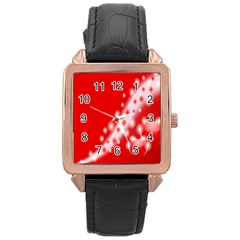 Background Banner Congratulation Rose Gold Leather Watch