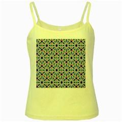 Background Pattern Geometric Yellow Spaghetti Tank