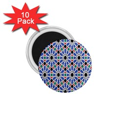 Background Pattern Geometric 1 75  Magnets (10 Pack)