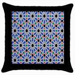 Background Pattern Geometric Throw Pillow Case (black)