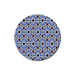 Background Pattern Geometric Rubber Coaster (round)