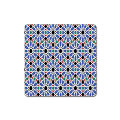 Background Pattern Geometric Square Magnet
