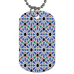 Background Pattern Geometric Dog Tag (two Sides)