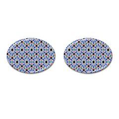 Background Pattern Geometric Cufflinks (oval)
