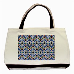 Background Pattern Geometric Basic Tote Bag (two Sides)