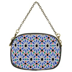 Background Pattern Geometric Chain Purses (two Sides)