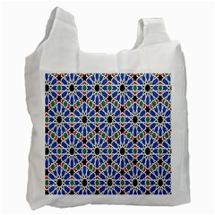 Background Pattern Geometric Recycle Bag (one Side)