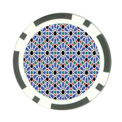 Background Pattern Geometric Poker Chip Card Guard (10 Pack)