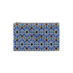 Background Pattern Geometric Cosmetic Bag (small)
