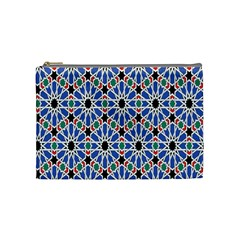 Background Pattern Geometric Cosmetic Bag (medium)