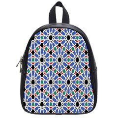 Background Pattern Geometric School Bags (small)