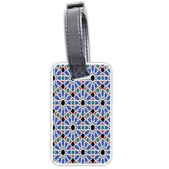 Background Pattern Geometric Luggage Tags (two Sides)