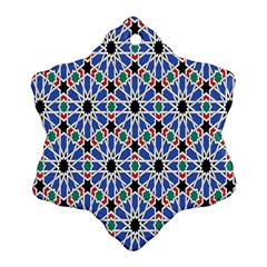 Background Pattern Geometric Snowflake Ornament (two Sides)