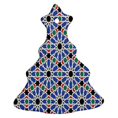 Background Pattern Geometric Christmas Tree Ornament (two Sides)
